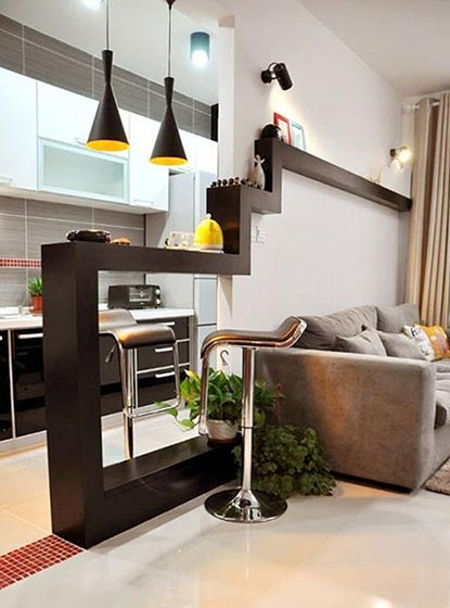 厨房吧台装修装饰效果图