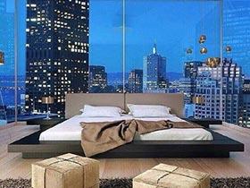 开阔的视野  10个卧室落地窗装修图片