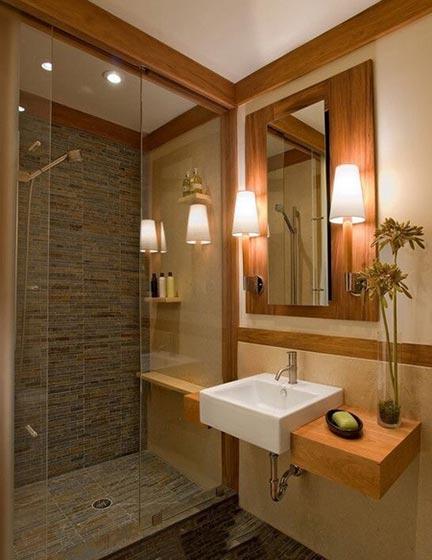 原木色浴室装修装饰效果图