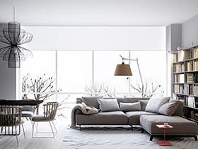 现代简约风格三居室装修 美学与实用结合