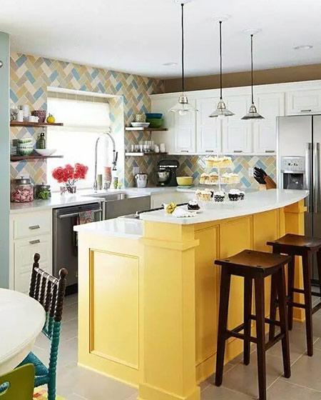 开放式厨房吧台装饰图片