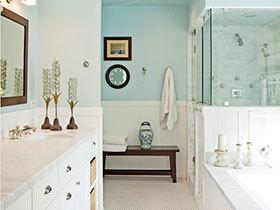 浪漫甜美  10款小清新卫生间装修效果图