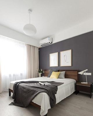 灰色系北欧风主卧室装修