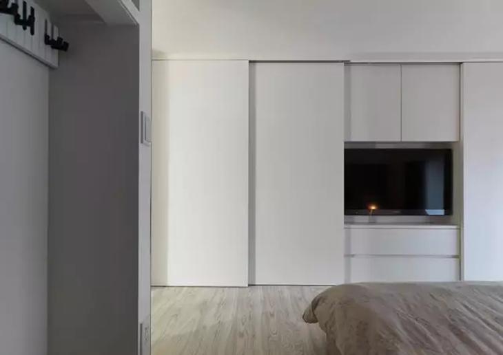 简约风卧室 白色衣柜效果图