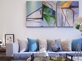 背后风景线  10个沙发背景墙装饰图片