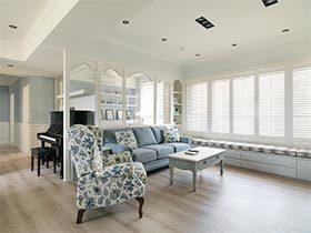 蓝色系的清爽与美感  美式三居室真的太美