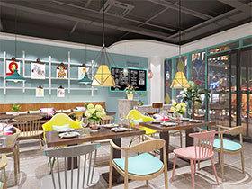 工业风茶餐厅装修设计效果图