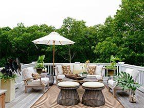 放松度过美好假日  10个露天花园设计图片