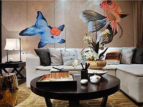 我家有蝴蝶飞飞  不可思议的新中式装修效果图三居室