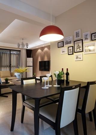 咖啡色的甜蜜空间 最爱简约风格装修餐厅效果图