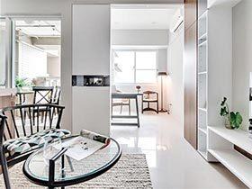 日式公寓很有特点  及时纯白色也有魅力