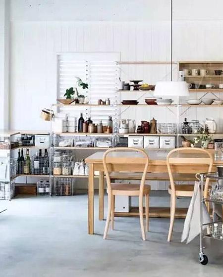 日式风格厨房餐厅一体装修