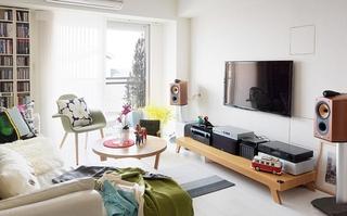 简约风格装修演绎完美简洁客厅书架