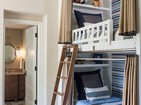 上下铺的童年  10个儿童房高低床设计图