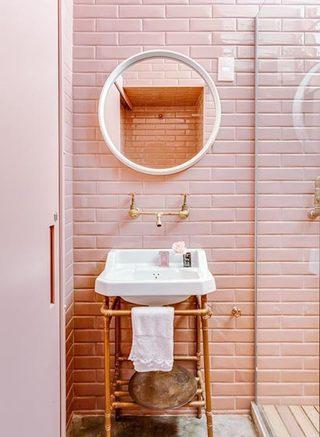 粉色系卫生间装修图片大全