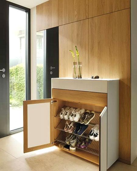 木质玄关鞋柜效果图设计