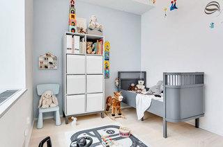 简约北欧风 灰色系儿童房设计