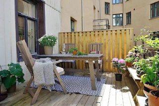 79平米北欧现代两居室阳台参考图