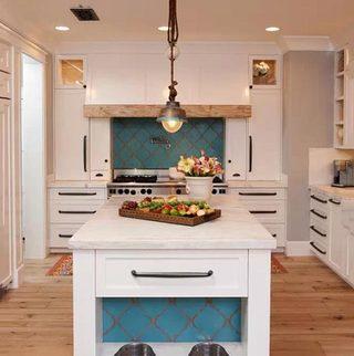 白色开放式厨房图片