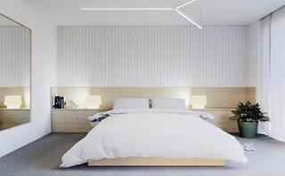 白色系卧室设计实景图