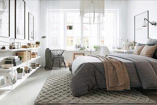 白色系卧室设计参考图