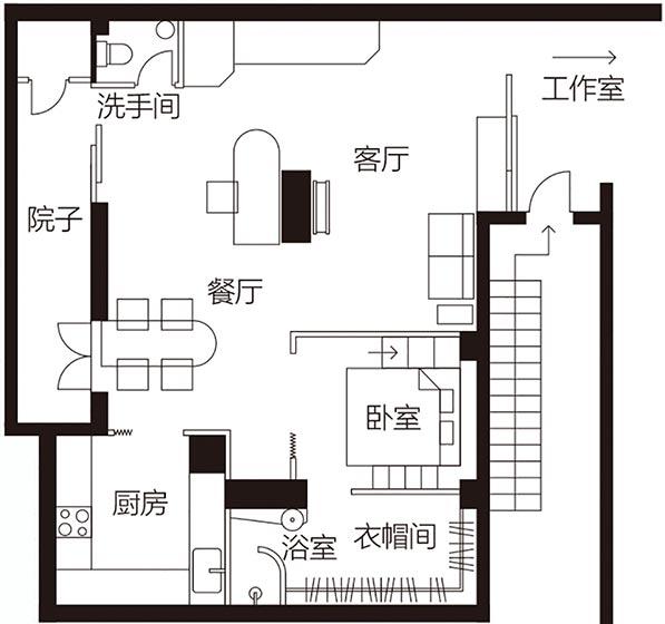 60平米公寓改造平面图