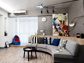 108平北欧风格三居装修效果图 酷炫文艺感