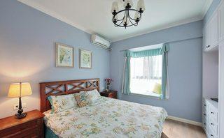 浪漫浅紫色 美式卧室效果图