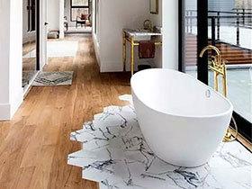 10个瓷砖木质混搭装修地板效果图 无缝拼接