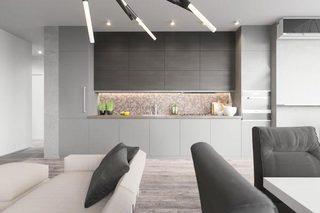 灰色厨房装修图