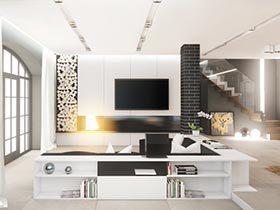 精美靓丽风  现代风电视墙装修效果图大全