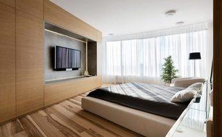 木质卧室背景装修图