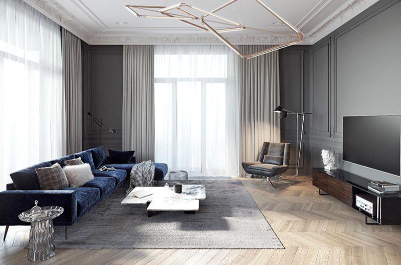 简约风格公寓装修客厅效果图