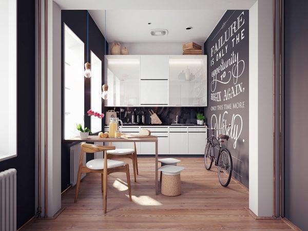 黑白色厨房装修装饰效果图