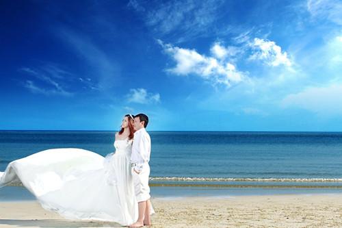 海南海景婚纱摄影_海南三亚十大婚纱摄影