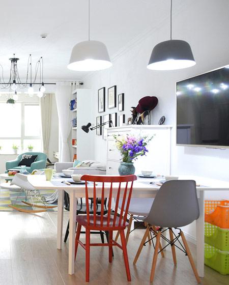 120平北欧三居室餐厅吊灯效果图