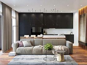 现代简约风格单身公寓装修图 简洁时尚有质感