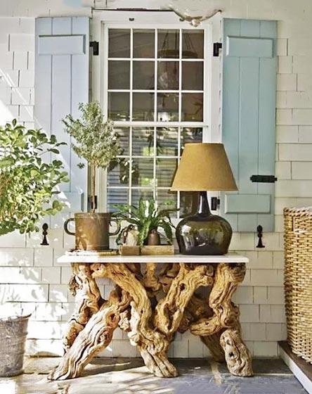 木头桌改造实景图
