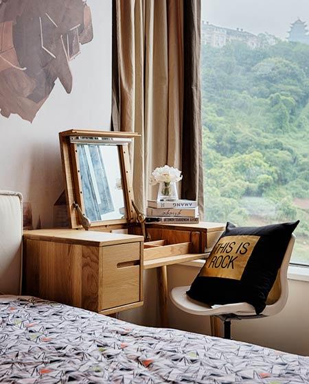 70平北欧风格卧室梳妆台效果图