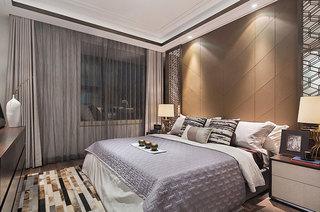 简约风格样板间卧室硅藻泥背景墙