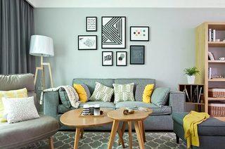 130平北欧风格三居小客厅装修