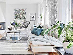 浪漫的时间  10款北欧风格客厅布置图