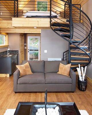 loft风格客厅双人沙发设计