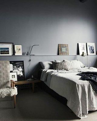 灰色卧室设计平面图