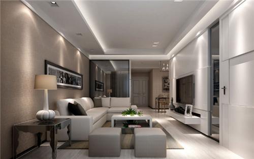 最新房子装修设计效果图_100平米房屋装修效果图 现代简约三房一厅装修设计_按风格查看 ...
