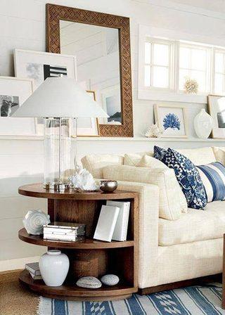 白色系客厅装修构造图