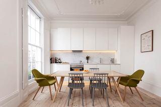 餐厅木质地板效果图