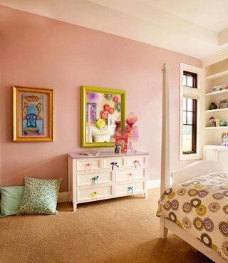 粉色系儿童房装修图片大全