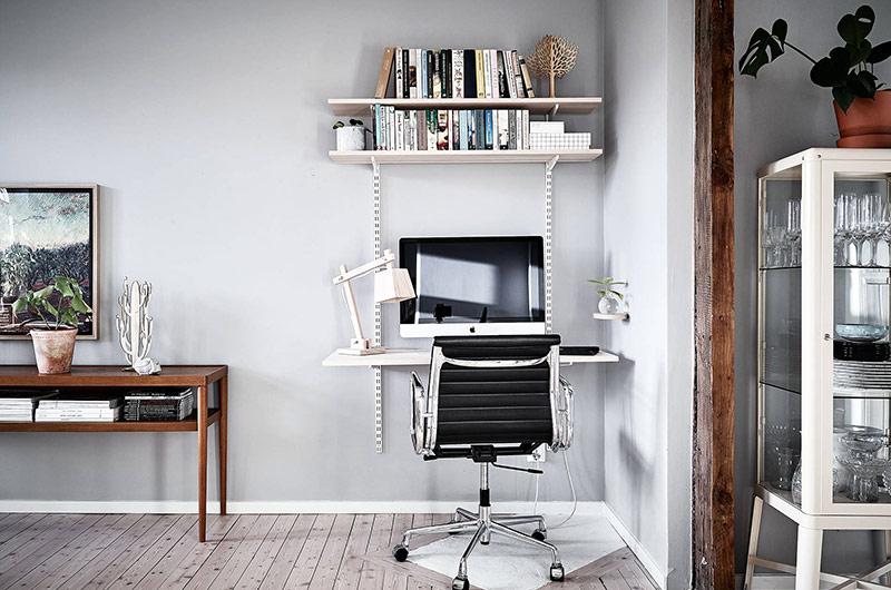 北欧风格一居室装修小书桌图片