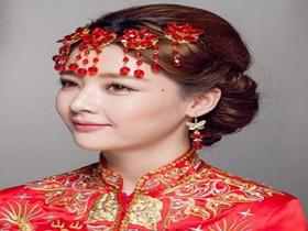 中式新娘造型图解 2017中式新娘发型图片大全-中式婚礼发型图片 中式